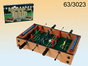 TABLE TOP WOODEN MINI FOOTBALL GAME FUN SET KIDS DESKTOP LIGHTWEIGHT & PORTABLE