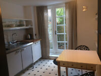 LOVELY STYLISH LARGE STUDIO withe own patio/garden in VICTORIAN HSE, bills inclusive