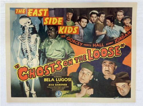 Ghosts on the Loose Vintage Half Movie Poster Lugosi Bowery Boys