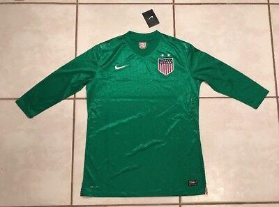 178ba0eee NWT NIKE USA National Team GREEN Centennial Goalkeeper Jersey Women s Large
