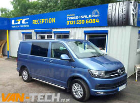 T6 fitted with Van-Tech Stainless Steel Side Bars and Roof Rails