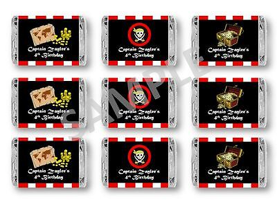 Pirate Mini Candy Bar Wrappers - Birthday Favors - Set of 60 ()