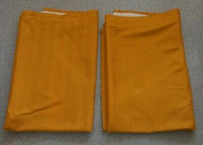 A PAIR OF VINTAGE 1960s/70s MUSTARD YELLOW CURTAINS IN GREAT CONDITION