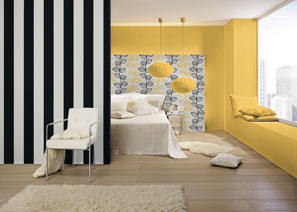 neu rasch breite streifen schwarz wei modern luxus tapete 286694 ebay. Black Bedroom Furniture Sets. Home Design Ideas