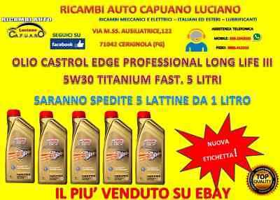 OLIO PER AUTO/MOTORI CASTROL EDGE PROFESSIONAL LONG LIFE III FST 5W-30 5 LITRI