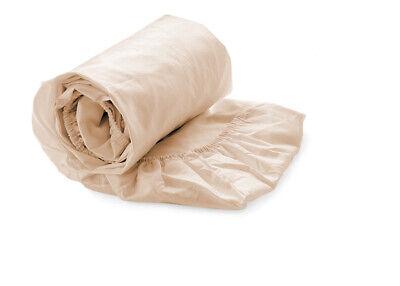 Hnl Spannbettlaken Perkal 100% Baumwolle Steghöhe 30 cm in sand 180x220 cm