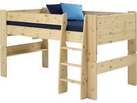 Steen Mid-Sleeper (Cabin Bed) - Pine inc. Tent & Tunnel