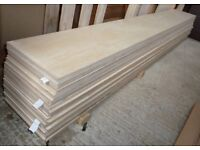 12 pieces of NEW 9mm B/BB Grade Premium Quality Russian Birch Plywood 8ft x 11in (2440mm x 280mm)