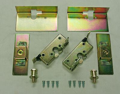 Large Locking Cat Jaw Claw Door Latches w/ Installation Kit Bear Type Grip Latch