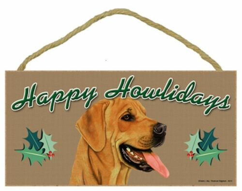Rhodesian Ridgeback Happy Howlidays Santa Wood Funny Christmas Dog Sign Plaque