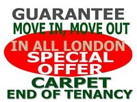 Special Offers - Deep Move-in, Move-out Professional Carpet Cleaning House End of Tenancy Cleaners