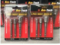Joblot 3 sets am tech socket driver sets