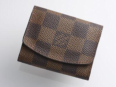G8931K Authentic Louis Vuitton Damier Cufflinks Case *Good