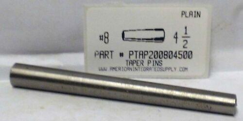 "#8X4-1/2 TAPER PIN STEEL PLAIN .492"" LARGE END DIAMETER (2)"