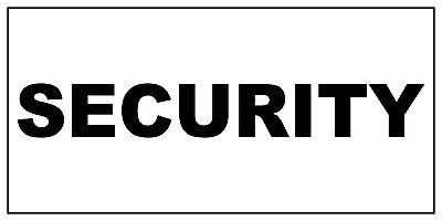 Security Black Car Door Magnets Magnetic Signs-Qty 2 Car Magnetic Door Sign