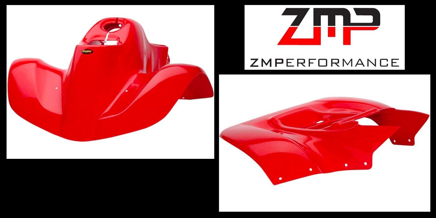 NEW HONDA TRX90 93 - 05 FIGHTING RED PLASTIC FRONT AND REAR FENDER SET TRX 90