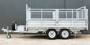 12x7 Hydraulic Tipper (Flat Top) NEW, Galvanised, Premium Quality Welshpool Canning Area Preview