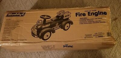 BUDDY L BLFD METAL RIDE ON FIRE ENGINE TRUCK RARE HTF - Kids Ride On Fire Engine