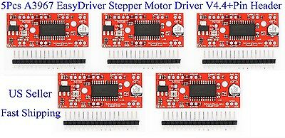 5pcs A3967 Easydriver Stepper Motor Driver V4.4pin Header For Arduino Us New