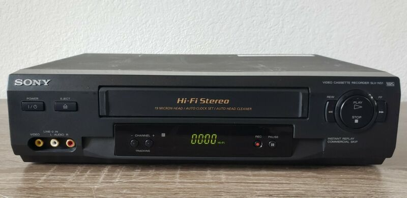 Sony SLV-N51 VHS VCR Video Cassette Player Recorder HI-FI Stereo Tested Works
