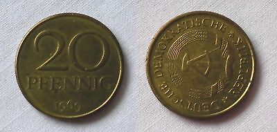 20 Pfennig DDR 1969 Fehlprägung, prägefrisch, Stempeldrehung 65 Grad (123518)