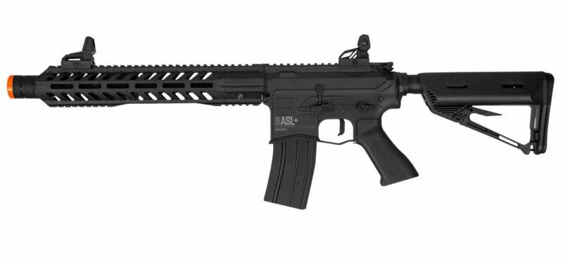 Valken ASL Series M4 Airsoft Rifle AEG 6mm Gun Hi-Velocity Whiskey - Black