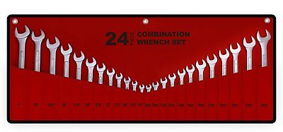 Best Value 24-Piece Master Combination Wrench Set with Roll-up Storage Pouch