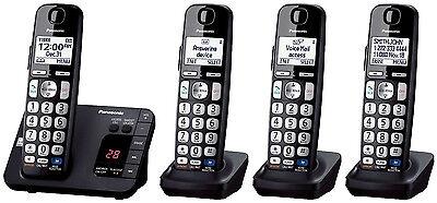Panasonic KX-TGE234B DECT 6.0 Plus Talking Cordless Phone System w/ Big Buttons