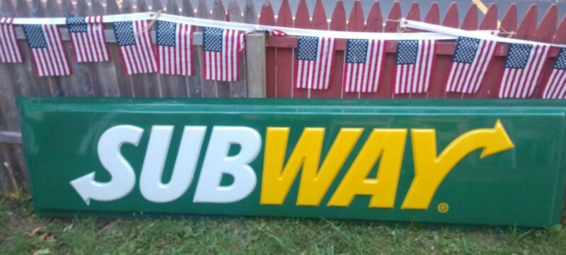 Subway Restaurant Advertising Sign 10 Ft LOCAL PICKUP ONLY !!!!!!!!