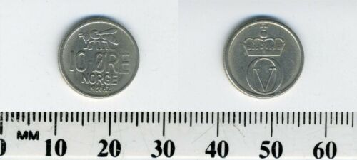 Norway 1962 - 10 Ore Copper-Nickel Coin - Honey bee - Olav V