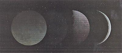 xxl- Lentikular - Wackelkarte: die Mondphasen - Moon Phases