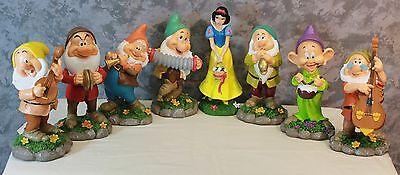 New Disney Snow White and The Seven Dwarfs Garden Statues