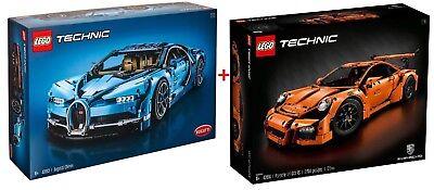 Lego Technic 42056 Porsche 911 GT3 +42083 Bugatti Chiron - New/Boxed