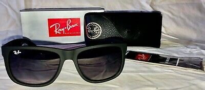 NEW Ray ban Justin sunglasses RB4165 601/8G 55 Matte Black Gradient AUTHENTIC