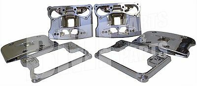 Rocker Box Cover Kit Harley Davidson Motorcycles Custom Chrome with Gasket Set