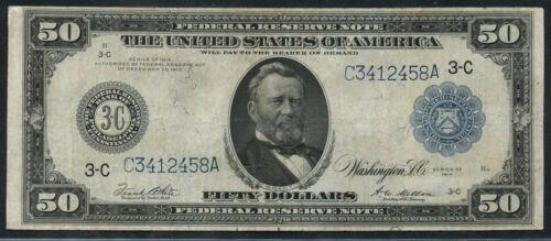 Fr1035 $50 1914 Frn Philadelphia Vf+ Hw3571