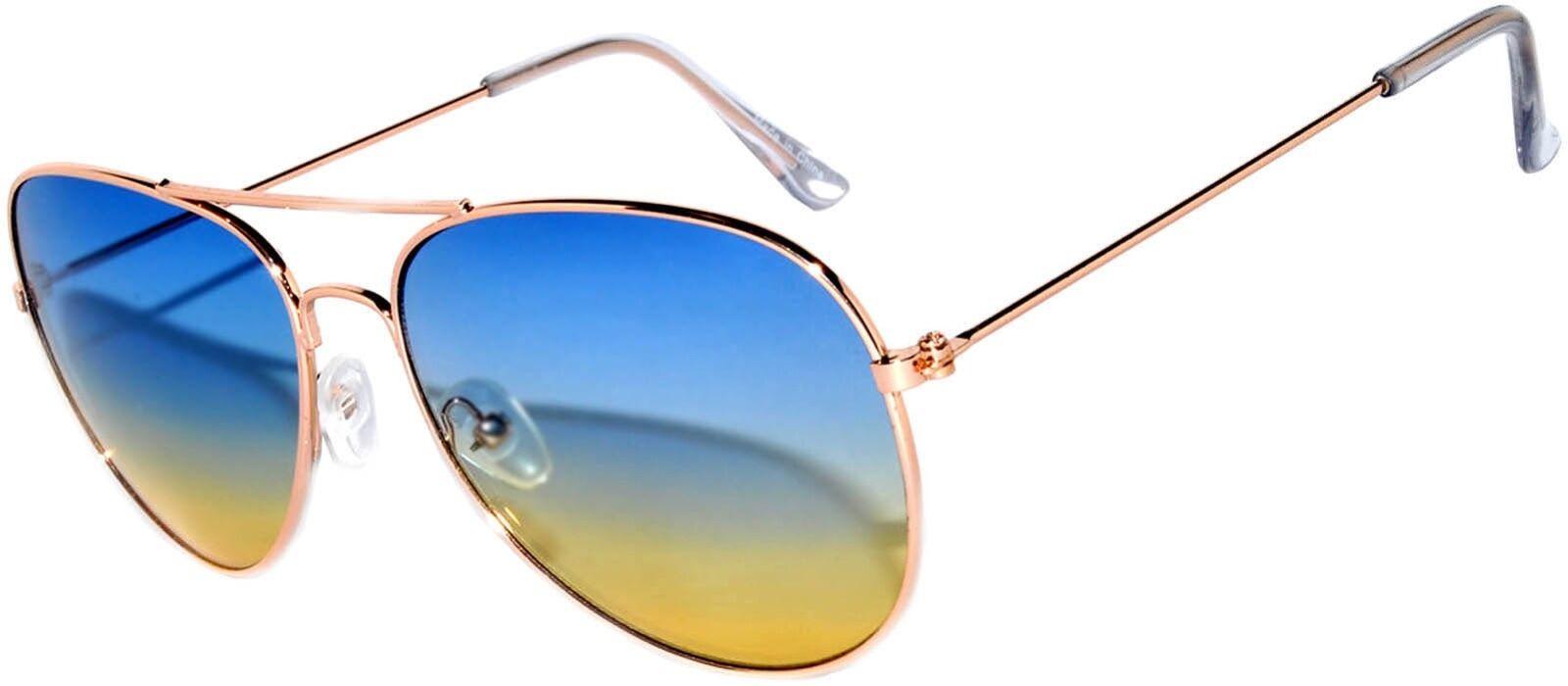 OWL Sunglasses 064 C3 Women's Men's Aviator Gold Frame B