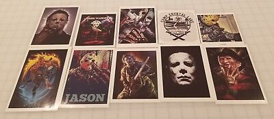 10 Horror Decals (Friday the 13th, Michael Myers, Freddy Krueger & More)](Horror Props)