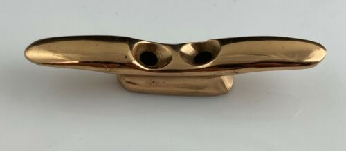 Tie Down Cleat Red Brass Miniature Yacht Boat