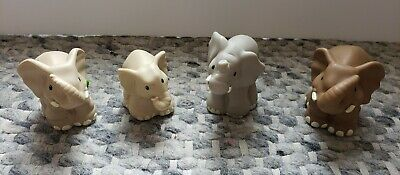 Fisher Price Little People Zoo Talkers Elephant Family Lot of 4