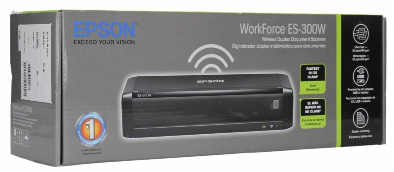 Epson WorkForce ES-300W Wireless Color Portable Document Scanner