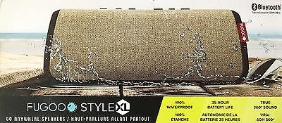 New! FUGOO Style XL Portable Rugged Waterproof Bluetooth Speaker Sand/Black