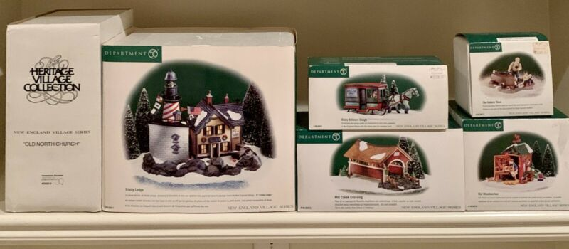 Dept. 56, New England, Lot of 6 with Trinity Ledge #56.56611