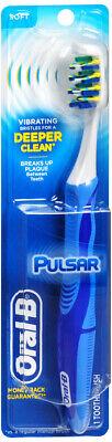 Oral B Toothbrush Pulsar Battery Soft Battery Toothbrush Medium Bristles Compact