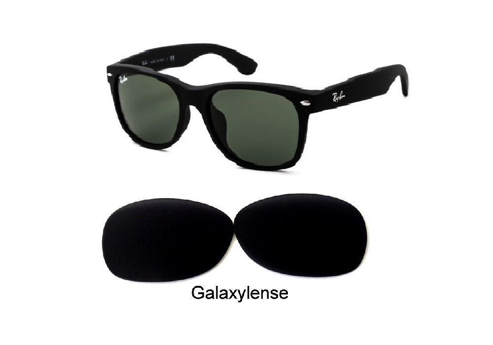 5f75d7e899 NEW RAY BAN RB 2132 NEW WAYFARER 55 MM BLACK COLOR POLARIZED REPLACEMENT  LENSES
