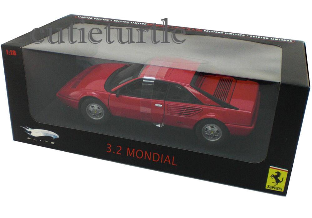 Hot Wheels Elite Ferrari 3.2 Mondial 1:18 Diecast Model Car P9889 Red