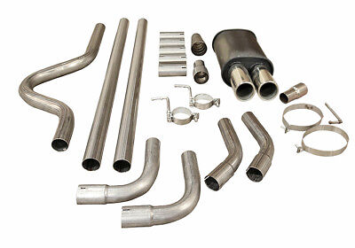 TWIN TIP SPORTS PERFORMANCE UNIVERSAL EXHAUST CAT BACK FULL SYSTEM BOX MC003+PIP