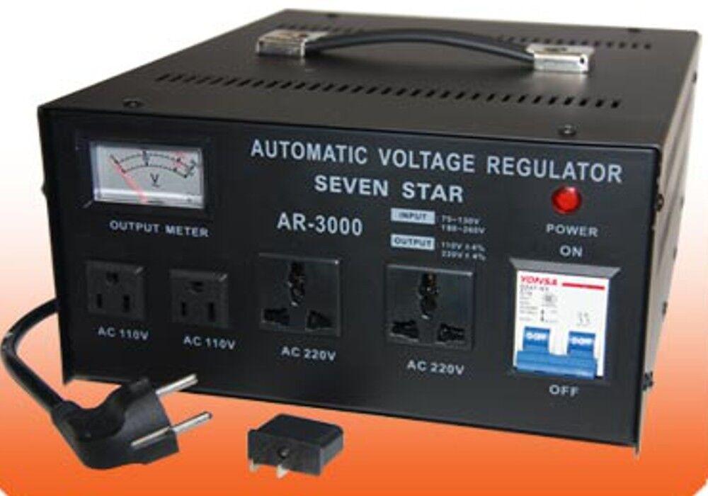 SEVENSTAR AR 3000 3000-Watt Heavy Duty Voltage Regulator/Sta