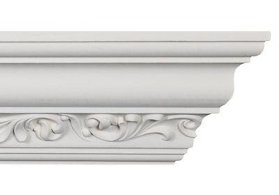 Crown Moulding - CM-2093 Crown Molding White Polyurethane 6-5/8