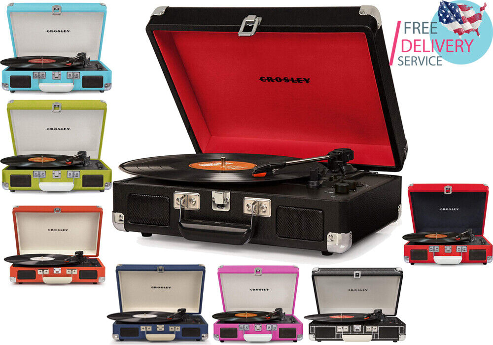 Crosley CRUISER DELUXE 3 Speed Turntable Record Player with